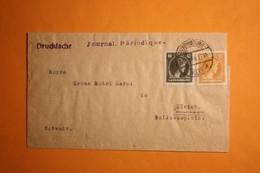 BANDE-JOURNAL AVEC 335 ET 341A POUR ZURICH. - Brieven En Documenten