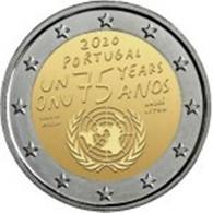 Portugal   - 2euro Cc - 75ª ONU -2020 UNC - Portugal