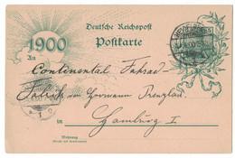 LA177   Karte Aus Heidelberg Nach Hamburg 1900 - Brieven En Documenten
