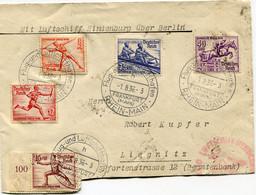 ALLEMAGNE LETTRE DEPART FLUG-UND LUFTfCHIFFHAFEN 1-8-36FRANKFURT (MAIN) RHEIN-MAIN POUR L'ALLEMAGNE - Summer 1936: Berlin