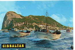 Gibraltar Le Rocher Salida A La Pesca Sortie De Pêche Bateaux De Pêche - Gibraltar