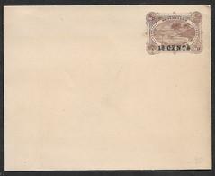 1896ca. SEYCHELLES - 18 Cents On 30 Cents Postal Stationary Envelope - TURTLE , LIGHTHOUSE Unused - Tortugas