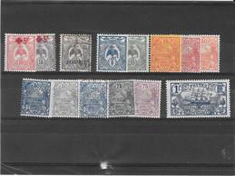 NOUVELLE CALEDONIE N° 111/115 117/119 120/125 NEUF* - Unused Stamps