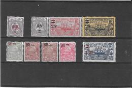 NOUVELLE CALEDONIE N° 126/134  NEUF* - Unused Stamps