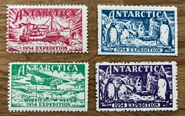 VIGNETTE 1954 - Lot De 4 Timbres Différents - MNH / NEUF -  EXPEDITION ANTARTICA - TBE - Autres