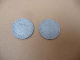 2 Pièces De 2 Franc 1961 & 1962 Collection Monnaie Pour Jouet Ancien Caisse Enregistreuse En Métal - Other