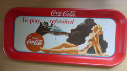 Coca-Cola Plateau Vintage Env. 48 X 21,5 Cm . - Plateaux