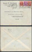 A924 France Lettre De Paris à Béthencourt Sur Mer 1942 - 1938-42 Mercurio
