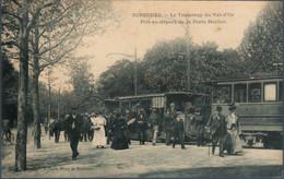 Suresnes , Le Tramway Du Val D'Or Pris Au Départ De La Porte Maillot , Un Reste De Carton Au Dos , Animée - Suresnes