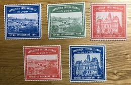 VIGNETTE 1914 - Lot De 5 Timbres MH / NSG NEUF - EXPOSITION LYON - TBE - Autres
