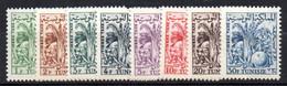Col17  Tunisie  Taxe N° 66 à 73 Neuf X MH   Cote 9,00€ - Segnatasse