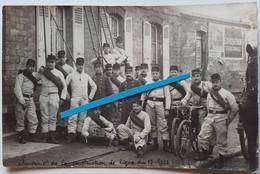 1908 Nanterre 5 Eme Régiment Du Génie Sapeurs Télégraphistes Pose Ligne  Poilu Tranchée Ww1 14-18 Carte Photo - Oorlog, Militair