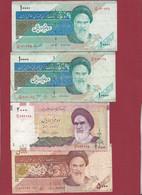 Iran 4 Billets Dans L 'état - Irán