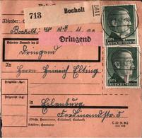 ! 1943 Bocholt Nach Eilenburg, Paketkarte, Deutsches Reich, 3. Reich - Lettres & Documents