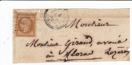 SAINTE ENIMIE LOZERE Petit Chiffre 3048 Sur 10c Napoléon ND - 1853-1860 Napoleon III
