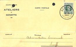 Carte Publicitaire Ateliers De Seneffe 1929 (prix Fixe) - Seneffe