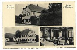 CPSM GRUSS AUS GRIESHEIM, I. BADEN B. OFFENBURG, GASTHAUS ZUR SONNE, Format 9 Cm Sur 14cm Environ, OFFENBOURG, ALLEMAGNE - Offenburg