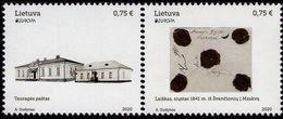 Lithuania - 2020 - Europa CEPT - Ancient Postal Routes - Mint Stamp Set - Lituania