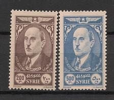 Syrie - 1944 - Poste Aérienne PA N°Yv. 105 à 106 - Président Koualty - Neuf Luxe ** / MNH / Postfrisch - Syria (1919-1945)