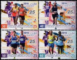Jordan 2019, 25th Anniversary Of Dead Sea Ultra Marathon, MNH Stamps Set - Giordania