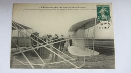 CPA Ancienne , LE MANS , Aviation En 1908 AUVOURS , M.WRIGHT. - Le Mans