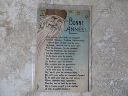 CPA Bonne Année Père Noël Père Janvier Liste De Voeux Carte écrite  Non Voyagée Brocherioux Imprimeur Paris Serie 36 - Santa Claus