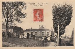 N°6034 R -cpa Villabé -place De La Fête- école De Filles- - Altri Comuni