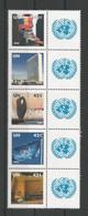 United Nations NY 2008 N.Y. Headquarters Strip Y.T. 1069/1073 ** - New York – UN Headquarters