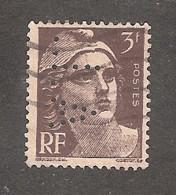 Perforé/perfin/lochung France No 715 A.L Aciéries De Longwy Puis Longometal (122) - Perforadas