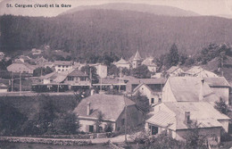 St Cergues VD, Chemin De Fer, Train En Gare (24.6.1917) - VD Waadt