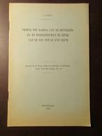 Proeve Tot Raming Van De Bevolking En De Weefgetuigen Te Ieper Van De XIII' Tot De XVIIe Eeuw - Door J. Demey - 1950 - Ieper