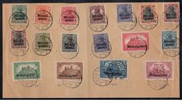 MEMEL - OCCUPATION FRANCAISE - MEMELGEBIET / 20-8-1920 SERIE COMPLETE 1/17 OBLITEREE / COTE 180.00 € (ref 64) - Gebraucht
