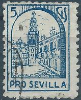 Spagna-Spain,Spanish,España,1921 PRO SEVILLA,CHARITY -Used - Wohlfahrtsmarken