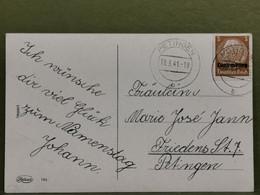 Carte Postale, Oblitéré Petingen 1941. Occupation - 1940-1944 Occupation Allemande