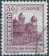 Spagna-Spain,Spanish,España,Provincial Council In CADIZ,Used - Wohlfahrtsmarken