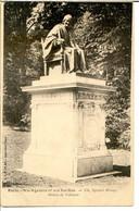 75005 PARIS - Square Monge - Statue De Voltaire - Sépia Foncé - District 05