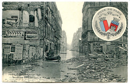 75006 - Écusson Ville De PARIS - Crue 1910 - Bld Saint-Germain Et Rue De Lille - Barque - Distrito: 06