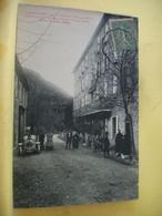 11 3214 CPA 1920 - 11 CARCANIERES ET ESCOULOUBRE. ETABLISSEMENTS DE ROQUELAURE. HOTEL ET CAFE - ANIMATION. AUTO - Altri Comuni