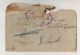 Cx16 21) Portugal Guerra 1914-18 C.E.P. Corpo Expedicionário Português 1917  WWI CENSURA CENSOR Horsham > Caxias - Briefe U. Dokumente