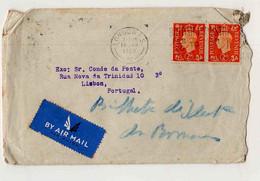 Cx16 30) GB UK George V 2d By Air Mail 1939 > Conde Da Ponte - Ohne Zuordnung