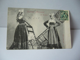 COSTUMI ABRUZZESI DI SCANNO ITALIA ITALIE CPA 1905 - Sin Clasificación