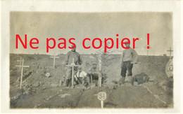 PHOTO FRANÇAISE - POILUS AU CIMETIÈRE DU PETAN AU BOIS LE PRÊTRE PRES DE GEZONCOURT - PONT A MOUSSON GUERRE 1914 1918 - 1914-18