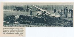 Orig. Knipsel Coupure Tijdschrift Magazine - Eeklo - Ongeval Militair Vliegtuig - 1939 - Non Classificati