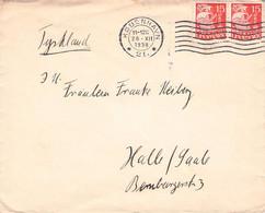 DENMARK - LETTER 1938 KOBENHAVN > HALLE/SAALE //AA109 - Brieven En Documenten