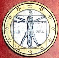 ITALIA - 2014 - Moneta - Leonardo Da Vinci, Proporzioni Ideali Del Corpo Umano - Euro - 1.00 - Italy