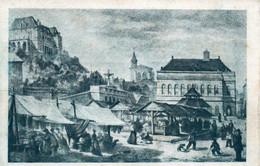 St Saint Etienne - La Place Des Ursules En 1869 (dessin De Jacques Trouilleux) Carte Non Circulée - Saint Etienne