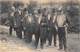 LOIRE ATLANTIQUE  44  NANTES - 75° ANNIVERSAIRE DE LA MUTUALITE, SOUS LA PRESIDENCE D'EMILE LOUBET - 1908 - Nantes