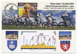 FRANCE - Carte Maximum - Tour De France 2013 - 14ème étape Saint Pourçain Sur Soule => Lyon 13/07/2013 - 2010-...