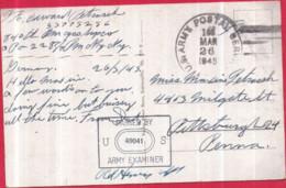 Guerre 1939-1945 WW2 - US ARMY POSTAL SERVICE APO + ARMY Examiner Censure Sur CP Koblenz A Rh. - Oorlog 1939-45