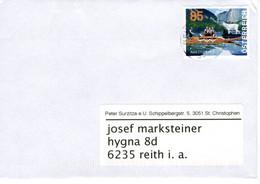 Brief Von 4018 Linz Mit 85 Cent Automatenmarke UEFA 2008 Salzkammergut + 10 Cent 2020 - 2011-... Lettere